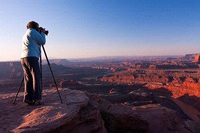Paula Shooting at Dead Horse Point