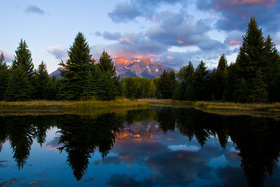 Schwabacher Landing at sunrise.