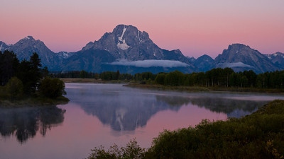Oxbow Bend before sunrise.