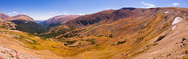 Panorama from Alpine Visitor Center off Trail Ridge Road near its summit.