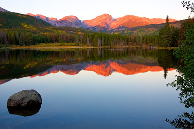 Sprague Lake at sunrise.