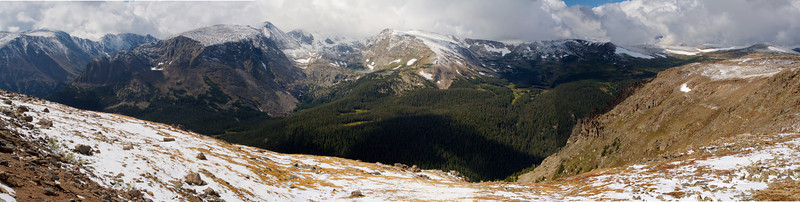 Panorama view from Trail Ridge Road