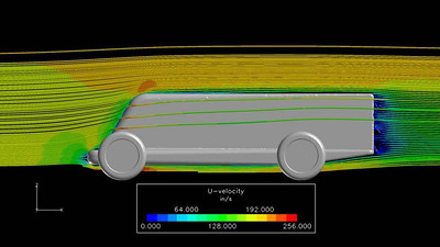 Pinewood derby car CFD analysis courtesy  of Corvid Technologies. www.corvidtechnologies.com   Cody's first car race, 3rd place Pinewood derby event, Jan 8 2010.
