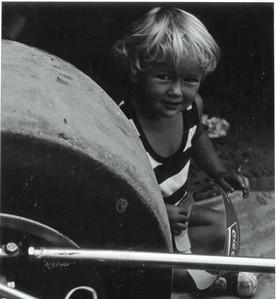 1975, Jody in Mosport paddock