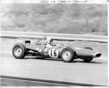 1968 Lotus 51A-FF-88 at Mosport, Bowmanville, Ontario.  The oil cooler now looks like a good air brake.. likely not really needed to be in that position....