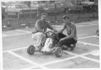 Goodwood Kart track, Goodwood Ontarion; SAE chassis with twin West Bend motors, by Jerry Solt of Sandusky Ohio,