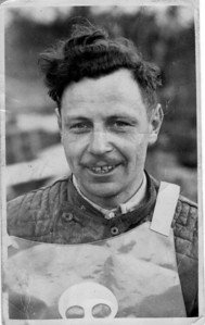 1948 Bingley Cree (april 48) with his Poole Pirates Speedway Team vest on