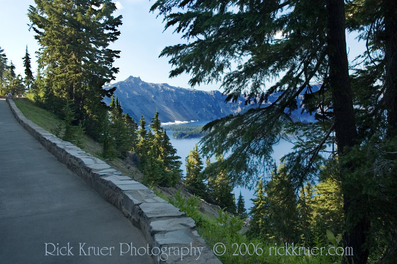 View of Crater Lake from the Lodge Trail, directly below the patio. Photo taken looking toward the west.<br /> ND70_2006-07-26DSC_6136-CraterLakeLodgeTrail-nice-2 copy.jpg