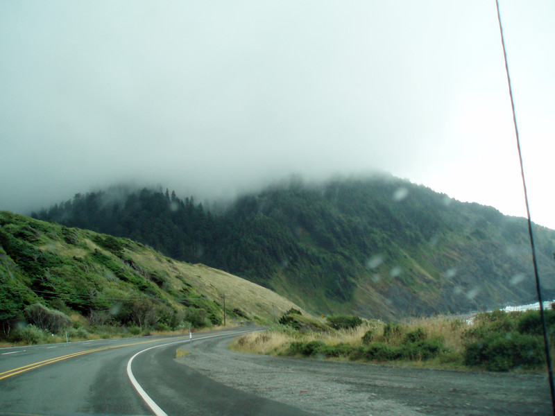 The fog is heavy today as we continue south along US101 along the Oregon Coast.<br /> P7211793-RoadFogUS101-2.jpg