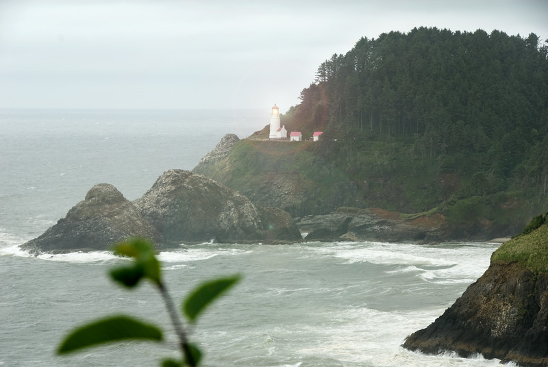 Heceta Head Lighthouse in the Fog on the Oregon Coast<br /> near Florence, Oregon<br /> July 2007<br /> <br /> Copyright © 2007 Rick Kruer<br /> rickkruer.com<br /> <br /> D200_2007-07-20DSC_2584-HecetaHeadLighthouseZoom-2.psd