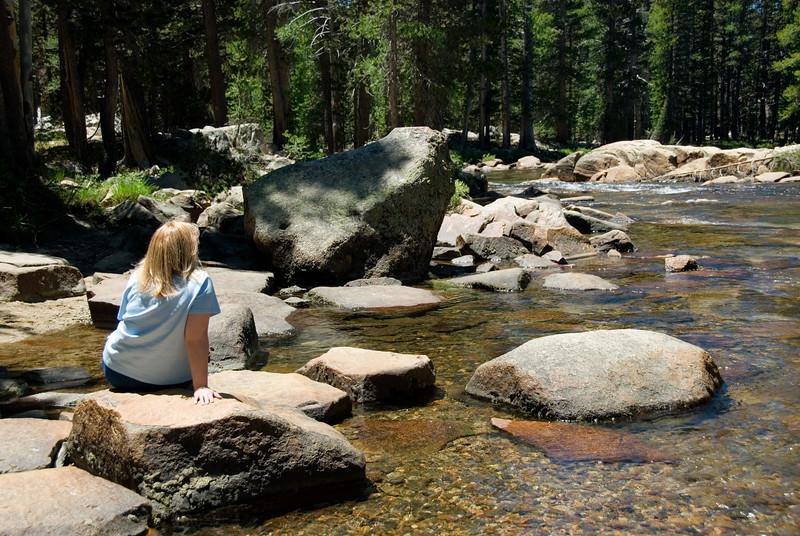Eileen having a moment of Zen on the Tuolumne River<br /> Yosemite National Park<br /> July 2007<br /> <br /> Copyright © 2007 Rick Kruer<br /> rickkruer.com<br /> <br /> D200_2007-07-02DSC_0685-EileenZenMomentTuolumneRiver-3 copy.jpg