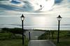 The entrance to the beach at the Cavalier.<br /> Nice sky!<br /> D200_2007-07-13DSC_1806-CavalierEntranceBeach-2 copy.jpg