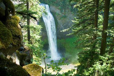 Beautiful Salt Creek Falls near Oakridge, Oregon.  Copyright © 2007 Rick Kruer rickkruer.com  D200_2007-07-04DSC_0926-SaltCreekFallsScenic-nice-2.PSD