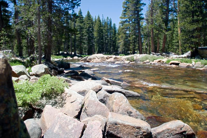 Yosemite Tuolumne River (Accented Edges)<br /> July 2007<br /> <br /> Copyright © 2007 Rick Kruer<br /> rickkruer.com<br /> <br /> D200_2007-07-02DSC_0675-TuolumneRiverWideAccentedEdges-2.PSD