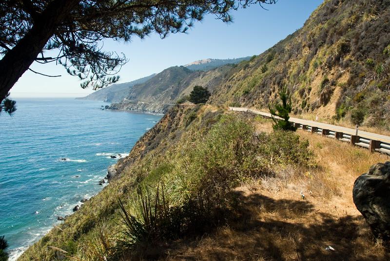 The Straight and Windy Road Along...<br /> Big Sur, California<br /> July 2007<br /> <br /> Copyright © 2007 Rick Kruer<br /> rickkruer.com<br /> <br /> D200_2007-07-25DSC_3341-RoadFromPinetreeStopLimekilnStatePark-2.psd