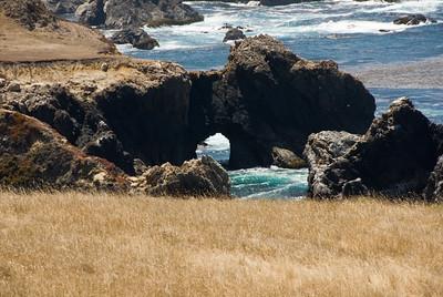 Ocean Arch at Big Sur Garapana State Park, California July 2007  Copyright © 2007 Rick Kruer rickkruer.com  D200_2007-07-25DSC_3222-BigSurArchGarapanaStatePark-2.psd