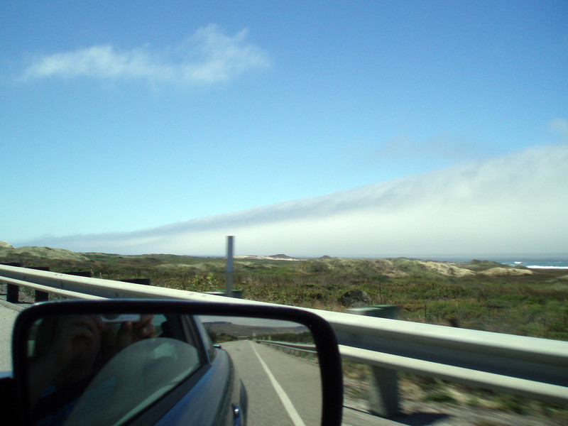 Eileen's photo of the fog rolling in as we proceed south on US 101 down the coast of California.<br /> P7241955-FogUS101-2.jpg
