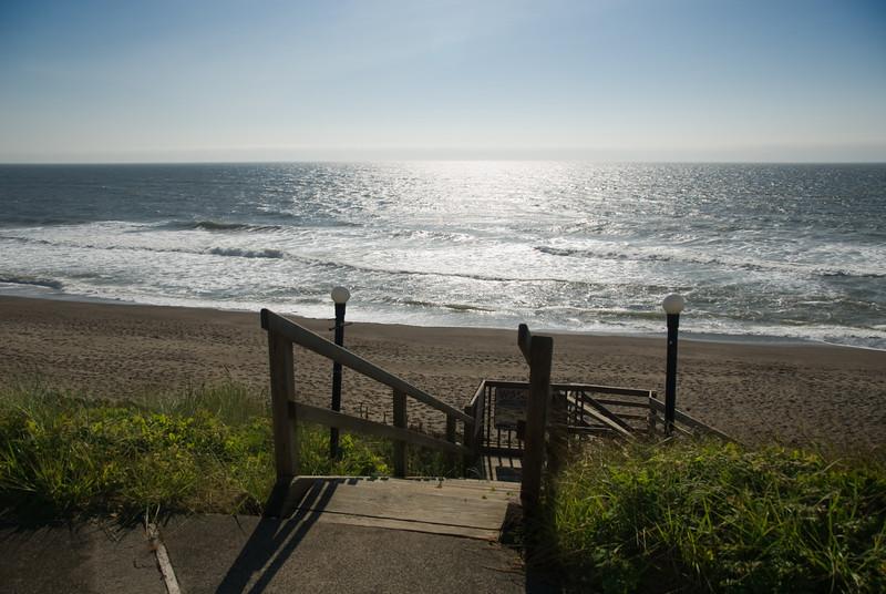 Stairway to Heaven on the Sunny Oregon Coast<br /> Gleneden Beach, Oregon<br /> July 2008<br /> <br /> Copyright © 2008 Rick Kruer<br /> rickkruer.com<br /> <br /> D200_2008-07-19DSC_7136-SunnyOceanCavalierStairs-nice-3.psd