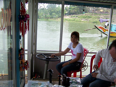 This is Liell, her family owns the boat that we use when we travel up the Perfume River in Hue.