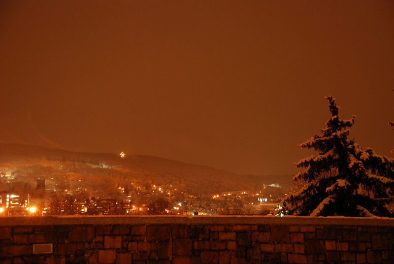 Bethlehem at Night with Snow