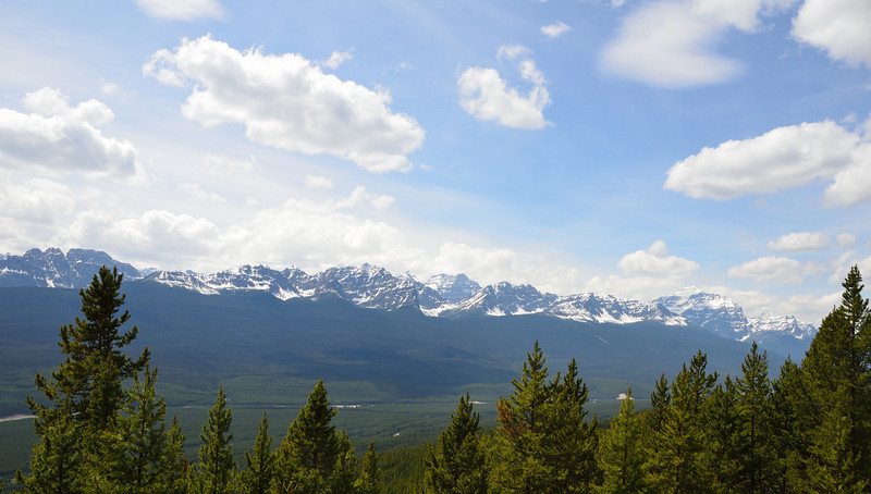"""View from Castle Lookout Trail.  Before we started this trail, we consulted our newly purchased hiking book.  It declared that this trail was """"easy"""".  Another hiker on the trail informed us that his hiking book classified this trail as """"suicidal"""".  We definitely had the wrong hiking book."""