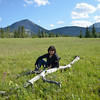 Lynne in the meadow near Middle Lake