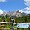 Stan observing Castle Mountain.
