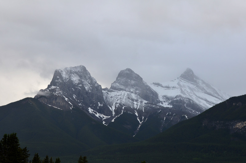 Three Sisters with fresh snowfall.