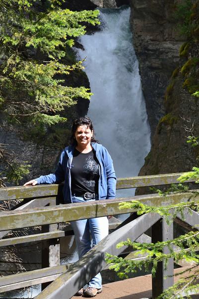Lynne at Johnston Canyon
