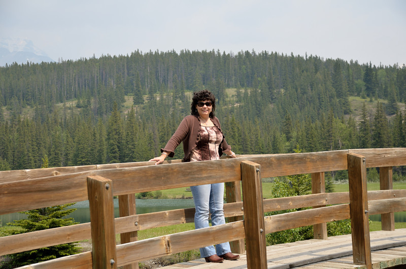 Lynne at Cascade Ponds.