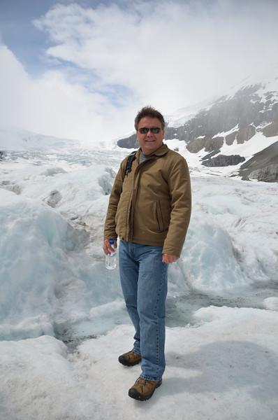 Stan at the glacier.