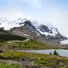 Mountains at the Columbia Icefields.