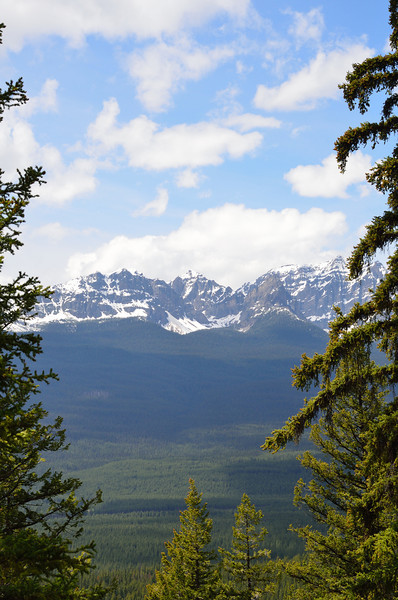 View from Castle Lookout Trail.  This trail gains 1700 feet in elevation in 2.3 miles of hiking.  That's steep!  This was one of our first hikes after arriving in Alberta.  The destination is at about 6500 feet.