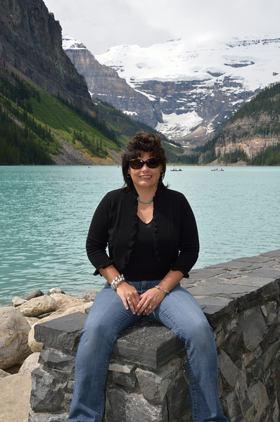 Lynne at Lake Louise