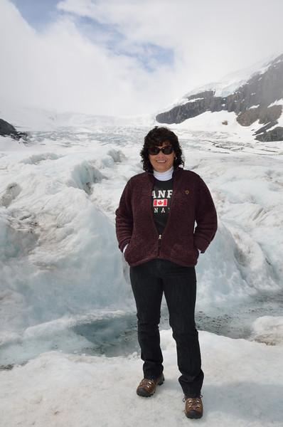Lynne at the glacier.