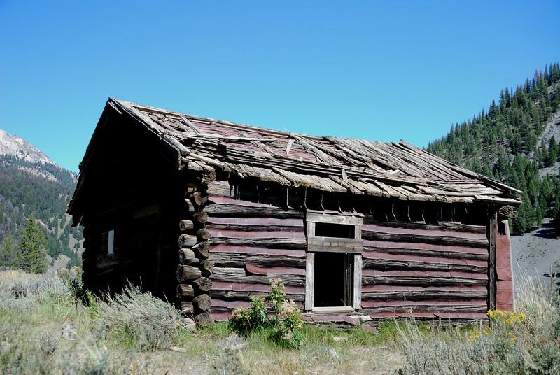 Rustic cabin near Custer, Idaho.
