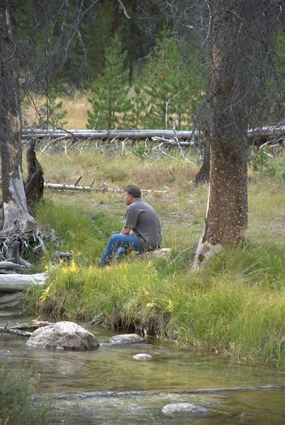 Stan enjoying the view near Redfish Lake, Idaho.