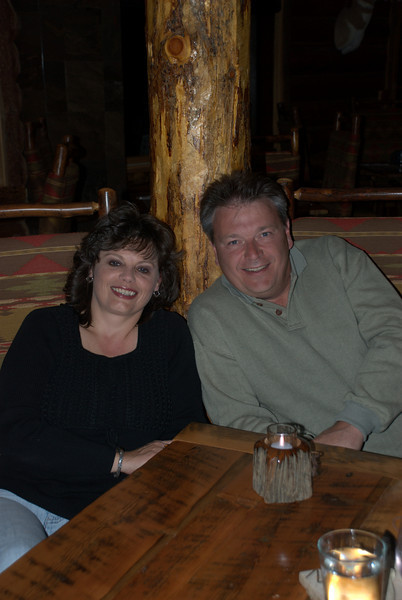 Stan and Lynne having dinner at Bar N Ranch.