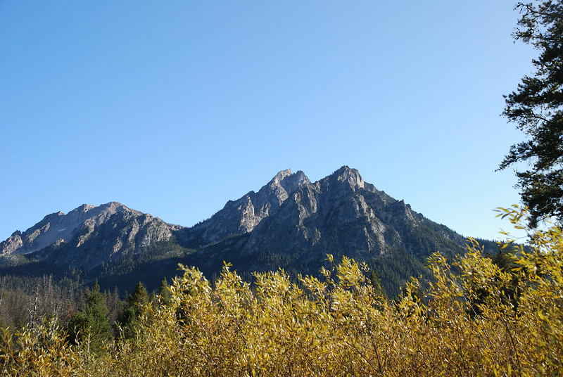 Mountains at Stanley Lake.