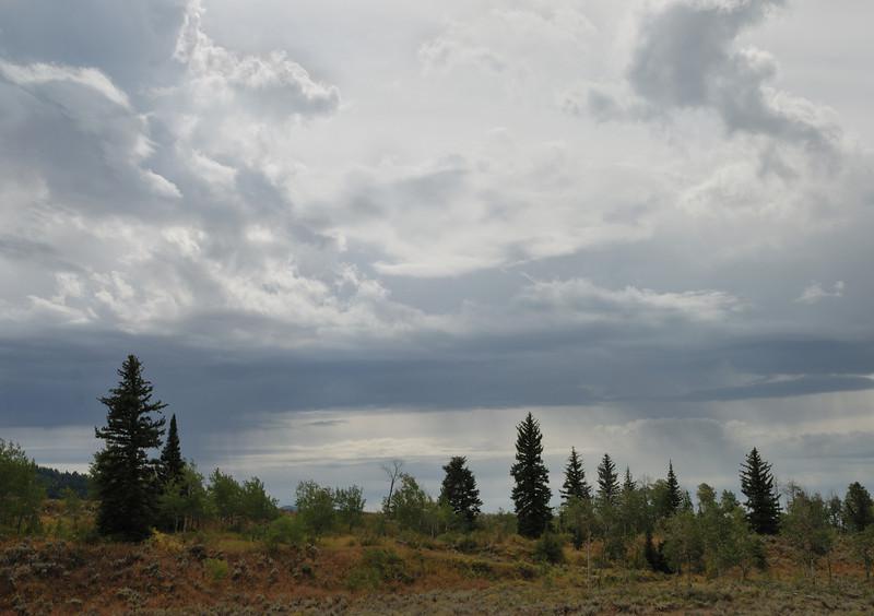 Grand Teton NP, Approaching storm.