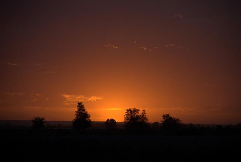 Sunset near Jerome, Idaho