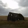 Dilapidated building in field near Ririe, Idaho