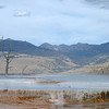 Geothermal features at Mammoth Hot Springs