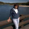 Lynne at Fishing Bridge