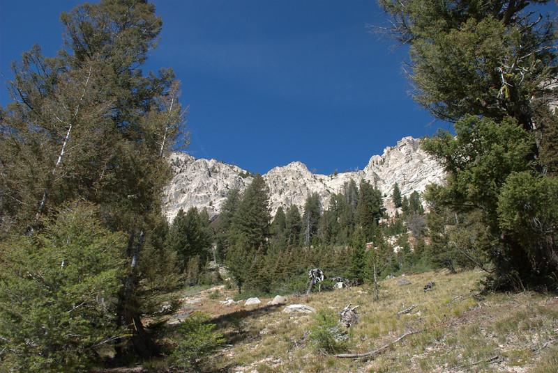 Hiking the Sawtooth Wilderness Area, Iron Creek Trail, Alpine Lake