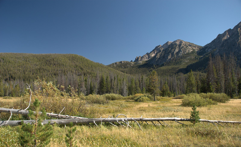 Mountains near Stanley Lake.
