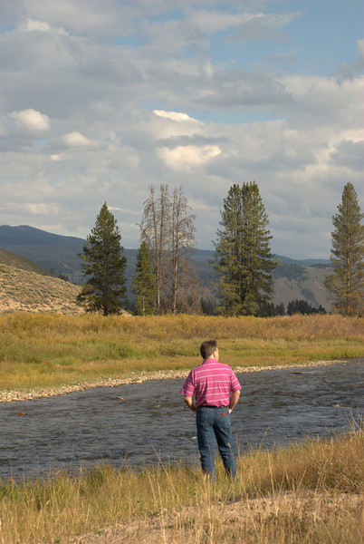 Stan checking out the river near Stanley, Idaho.