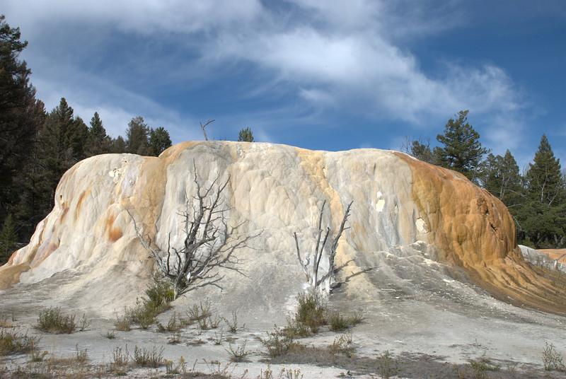 Orange Mound at Mammoth Hot Springs