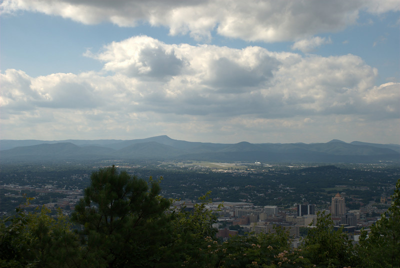 Roanoke vew from Mill Mountain
