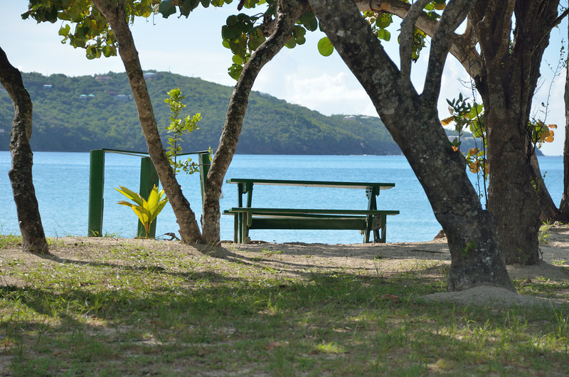 Our spot at Magens Bay.
